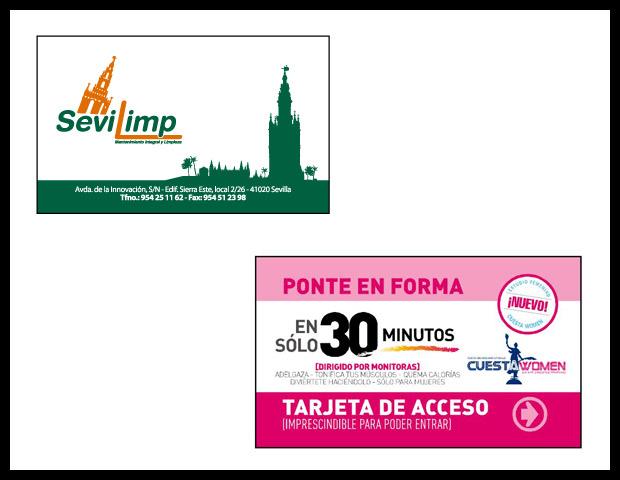 oferta de tarjetas de visita