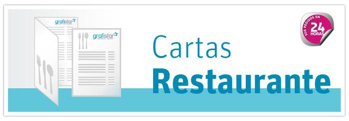 impresión de cartas restaurante