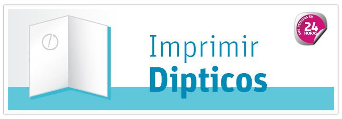 Imprimir dipticos online baratos en 24 horas. Envío Gratis